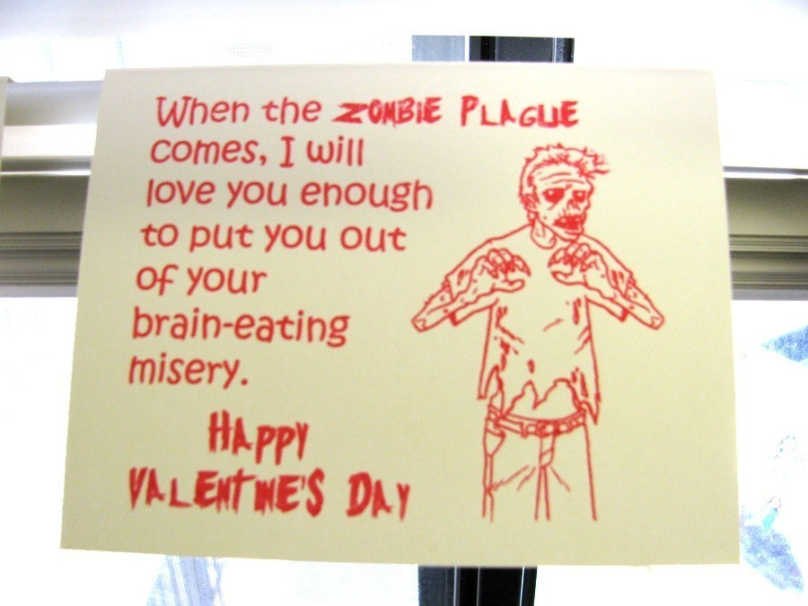 Zombie valentine  Quirky Zombie